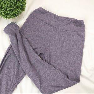 Lularoe OS leggings, heathered purple